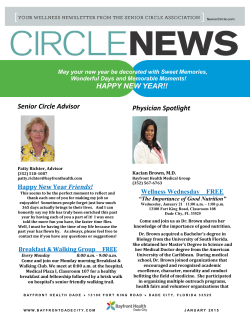 Read the latest Circle News