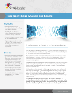 Intelligent Edge Analysis and Control