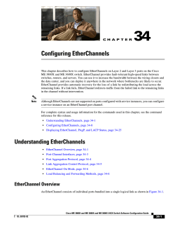 "Chapter 34, ""Configuring EtherChannels."""