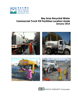 Bay Area Recycled Water Commercial Truck Fill Facilities Location