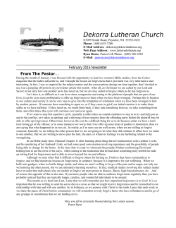 News letter - Dekorra Lutheran Church
