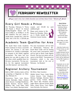 FEBRUARY NEWSLETTER - South Rock Creek School