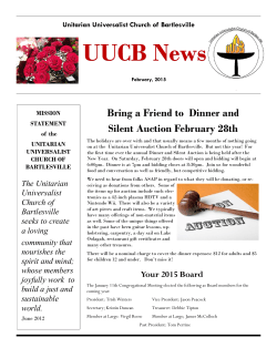 Current Newsletter (pdf) - Unitarian Universalist Church of Bartlesville