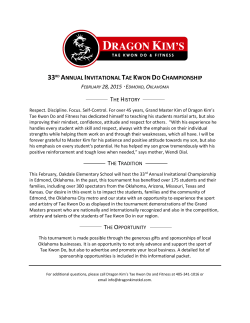 33rd annual invitational tae kwon do championship