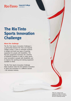 The Rio Tinto Sports Innovation Challenge