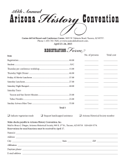 Registration Form - Arizona History Convention