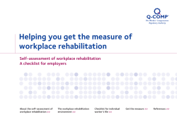 Helping you get the measure of workplace rehabilitation