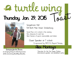Thursday, Jan. 29, 2015 - Turtle Wing Foundation
