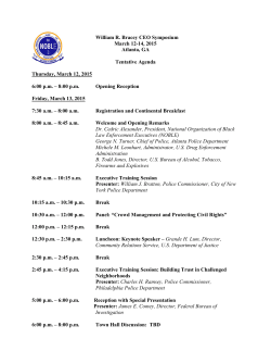 2015 CEO Symposium Agenda - National Organization of Black Law