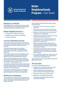 Better Neighbourhoods Program fact sheet (pdf 80 kB)