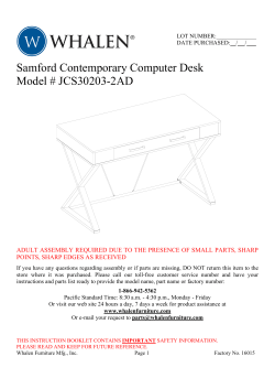 Samford Contemporary Computer Desk Model