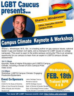 Shane L. Windmeyer, M.S., Ed., is a leading author on gay campus