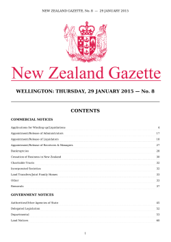 PDF (601 KB) - New Zealand Gazette