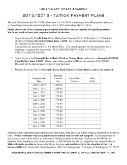 2015-16 tuition payment plan for detailed information.