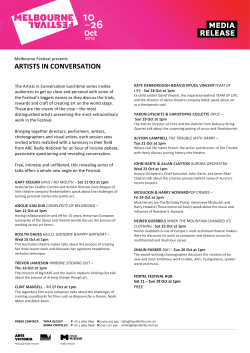 Artists in Conversation MR