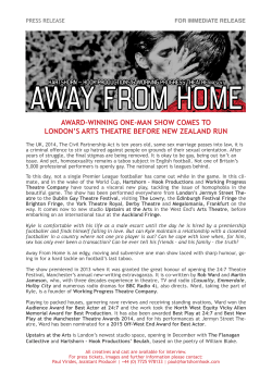 Away From Home – Upstairs at the Arts, February 2015
