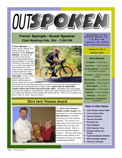 Current Newsletter (February 2015)