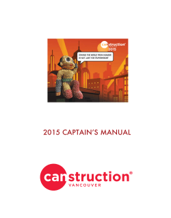 4) Captains Manual PDF - Canstruction Vancouver