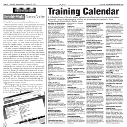 Training Calendar - The Berkshire Eagle