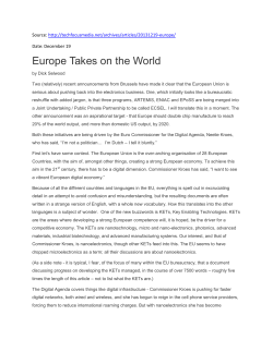 Europe Takes on the World - Artemis-IA