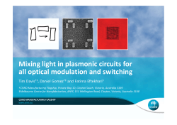 Mixing light in plasmonic circuits for all optical modulation and