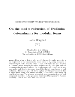 On the mod p reduction of Fredholm