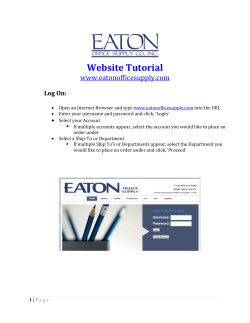 Website Tutorial - Eaton Office Supply