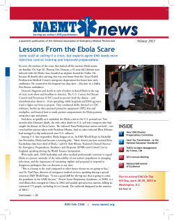 Lessons Learned From Ebola Scare