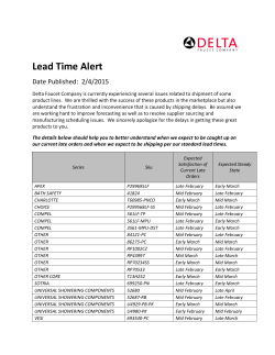 Lead Time Alert - Access Point