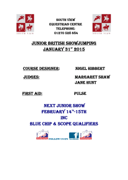 Junior British Showjumping January 31ST 2015 NEXT junior SHOW