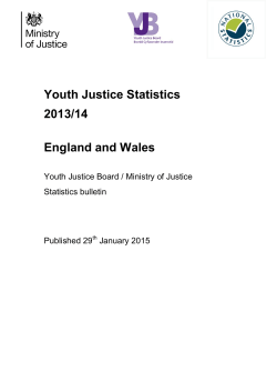 Youth justice annual statistics