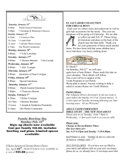 Current Bulletin - St. Gertrudes Catholic Church