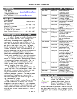 Bulletin - Saint Thomas More Parish