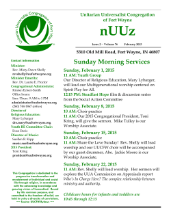 Sunday Morning Services - Unitarian Universalist Congregation of