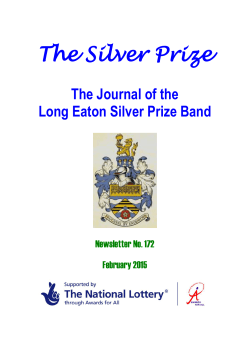 January newsletter - Long Eaton Silver Prize Band