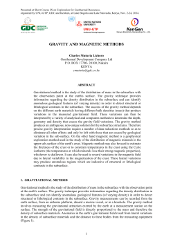 GRAVITY AND MAGNETIC METHODS