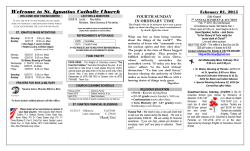 Bulletin - Stignatiuschurch