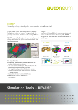 Simulation Tools – REVAMP