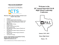 the 28th Annual Statewide PAL® High School Leadership Conference