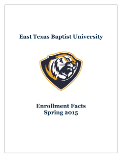 Spring 2015 Enrollment Facts