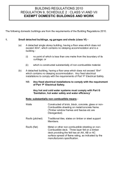 Exempt building application form