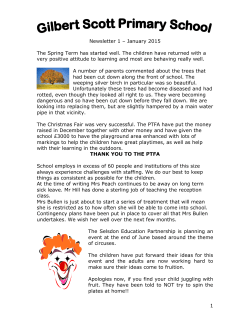1 Newsletter 1 – January 2015 The Spring Term has started well