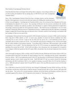 Transition letter - Carachipampa Christian School