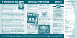 Current Bulletin - Canton Baptist Temple