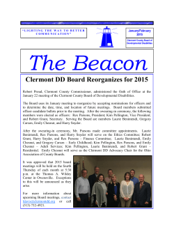 Clermont DD Board Reorganizes for 2015
