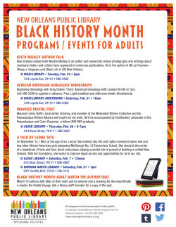 BLACK HISTORY MONTH - New Orleans Public Library