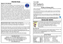 to view our weekly sheet - St Peters Church Oundle