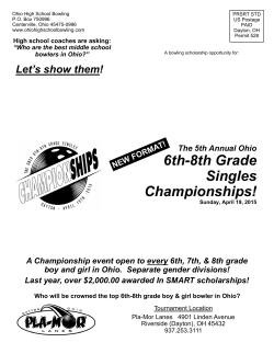 The Ohio 6th-8th Grade Singles Championships