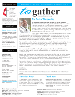 Newsletter - Castleton United Methodist Church