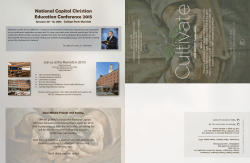 National Capital Christian Education Conference 2015